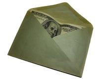 Valuta i pappers- kuvert Arkivfoton