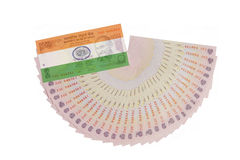 Valuta indiana con la bandiera Immagini Stock Libere da Diritti