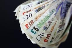 Valuta inglese Fotografia Stock Libera da Diritti