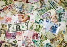 Valuta internazionale Fotografie Stock Libere da Diritti