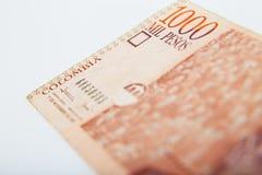 Valuta nazionale della Colombia Fotografie Stock Libere da Diritti