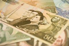 Valuta nordcoreana Fotografia Stock