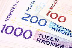 Valuta norvegese 1000b Fotografia Stock