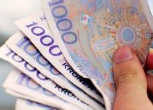Valuta norvegese, migliaia Fotografia Stock