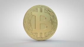 Valuta-oro cripto di Bitcoin Fotografia Stock