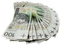 Valuta polacca Fotografie Stock Libere da Diritti