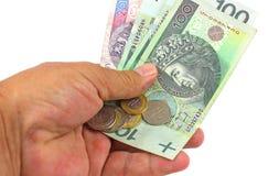 Valuta polacca di zloty (PLN) Fotografie Stock
