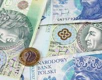 Valuta polacca di zloty (PLN) Immagini Stock Libere da Diritti