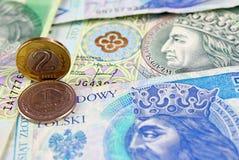 Valuta polacca di zloty (PLN) Fotografia Stock Libera da Diritti