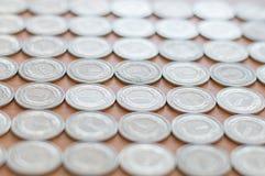 Valuta polacca le monete da 1 zloty Fotografie Stock Libere da Diritti