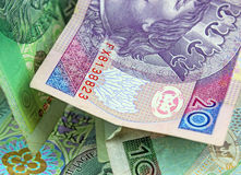 Valuta polacca (PLN). Immagini Stock Libere da Diritti