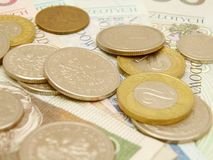 valuta polerad zloty Arkivfoton