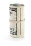 Valuta rotolata del dollaro Fotografie Stock Libere da Diritti