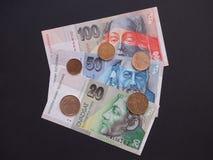 Valuta slovacca Fotografia Stock Libera da Diritti