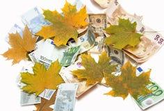 Valuta su fondo bianco immagini stock
