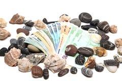 Valuta su fondo bianco fotografia stock