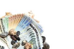 Valuta su fondo bianco fotografia stock libera da diritti