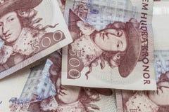 Valuta svedese, 500 corone svedesi Immagini Stock Libere da Diritti