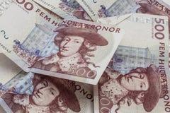 Valuta svedese, 500 corone svedesi Fotografia Stock Libera da Diritti