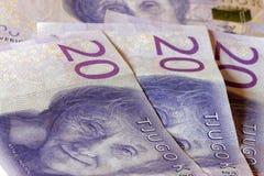 Valuta svedese, 20 corone svedesi, nuova disposizione 2015 Immagini Stock