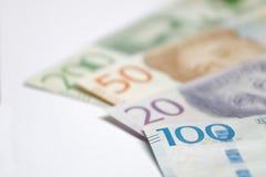 Valuta svedese 20, 50, 100, 200 corone svedesi, nuova disposizione 2016 Fotografia Stock