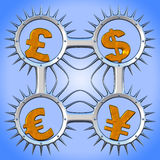 Valuta symbols_03 royaltyfri illustrationer