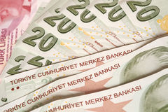 Valuta turca Immagini Stock