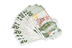 Valuta turca Fotografia Stock