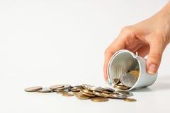 Valuta Ucraina dei contanti del pezzo della moneta dei soldi Fotografie Stock Libere da Diritti
