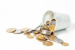 Valuta Ucraina dei contanti del pezzo della moneta dei soldi Immagine Stock