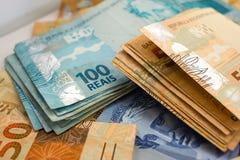Valuta ufficiale del Brasile Fotografia Stock Libera da Diritti
