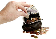 Valuta under pressure Royalty Free Stock Photos