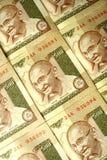 valuta vänder gandhi mot Arkivfoto