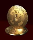 Valuta virtuale - bitcoin Fotografia Stock Libera da Diritti