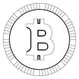 Valuta virtuale dei fondi BItcoin Cryptocurrency Immagini Stock