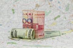 valutadollar globala yuan Royaltyfri Fotografi