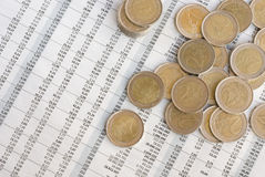 valutaeuropean Royaltyfri Bild