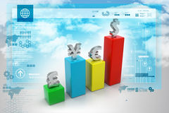 Valutagraf Fotografering för Bildbyråer