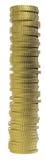 valutaguld för myntet 3d framför Royaltyfria Bilder