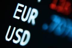 valutakursar Fotografering för Bildbyråer