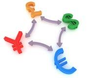 Valutamarknad stock illustrationer