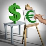 Valutaomvandling stock illustrationer