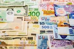 Valutapapper Fotografering för Bildbyråer