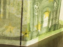 Valutaräkning av den europeiska gemenskapen Arkivbild