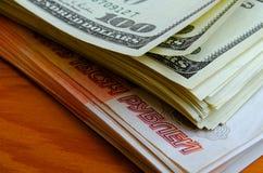 Valutaspekulation rubeldollaren Royaltyfri Fotografi