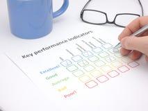 Valutazione degli indicatori di efficacia chiave Fotografia Stock Libera da Diritti