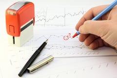 Valutazione dei risultati di affari II Immagini Stock Libere da Diritti
