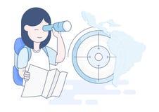 Valutazione della gente esplorata nel Sudamerica illustrazione di stock