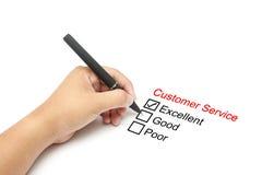 Valutazione delle prestazioni di servizio di assistenza al cliente fotografia stock