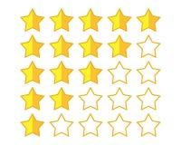 Valutazione delle stelle Fotografia Stock Libera da Diritti